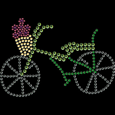 Bicycle Rhinestone Transfer