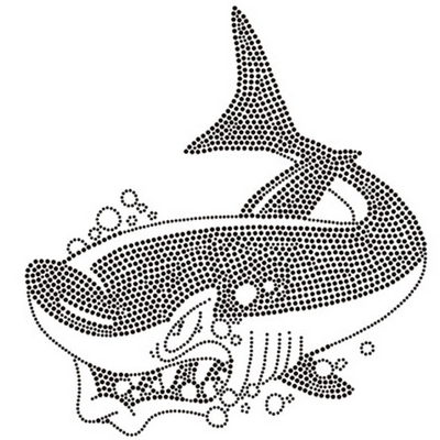 Shark Rhinestone Transfer