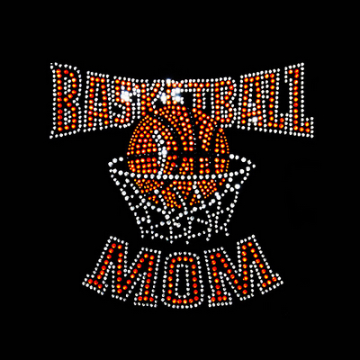 Basketball Mom Rhinestone Transfer
