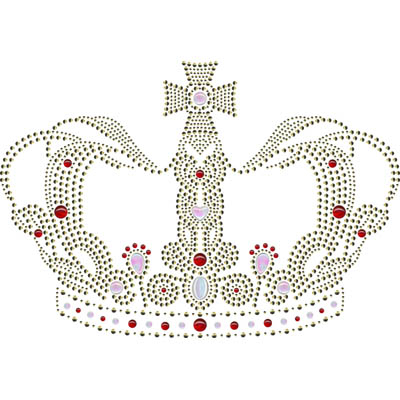 Crown Rhinestone Heat Transfer