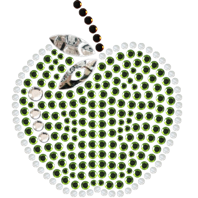Apple Rhinestone Transfer