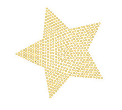 Star Iron On Rhinestone Transfer